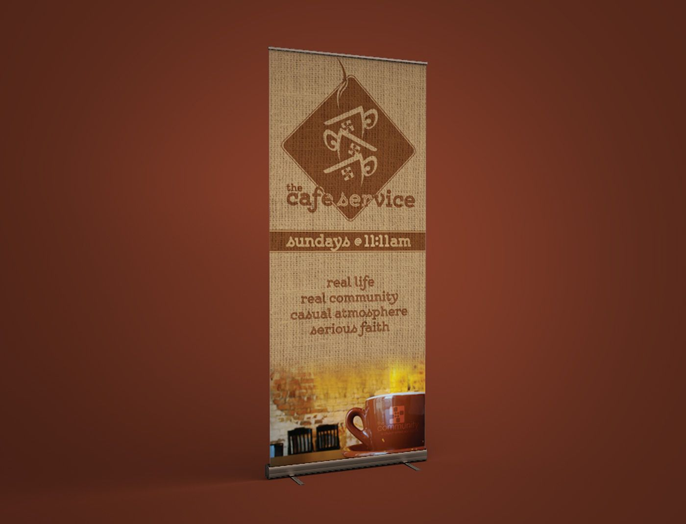 The Community — Café Service Logo & Banner