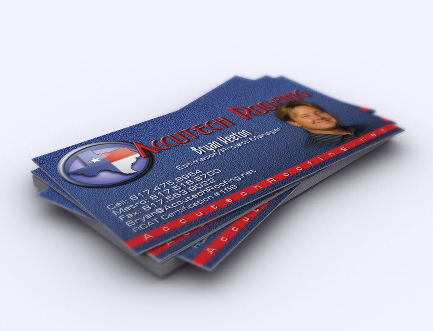 Accutech Roofing Logo and Card
