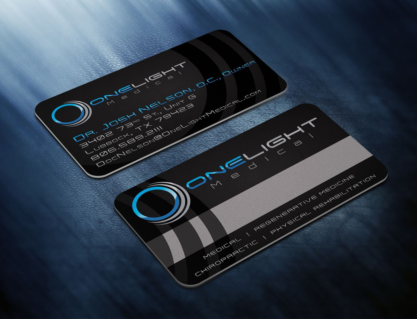 One Light Medical Business Cards