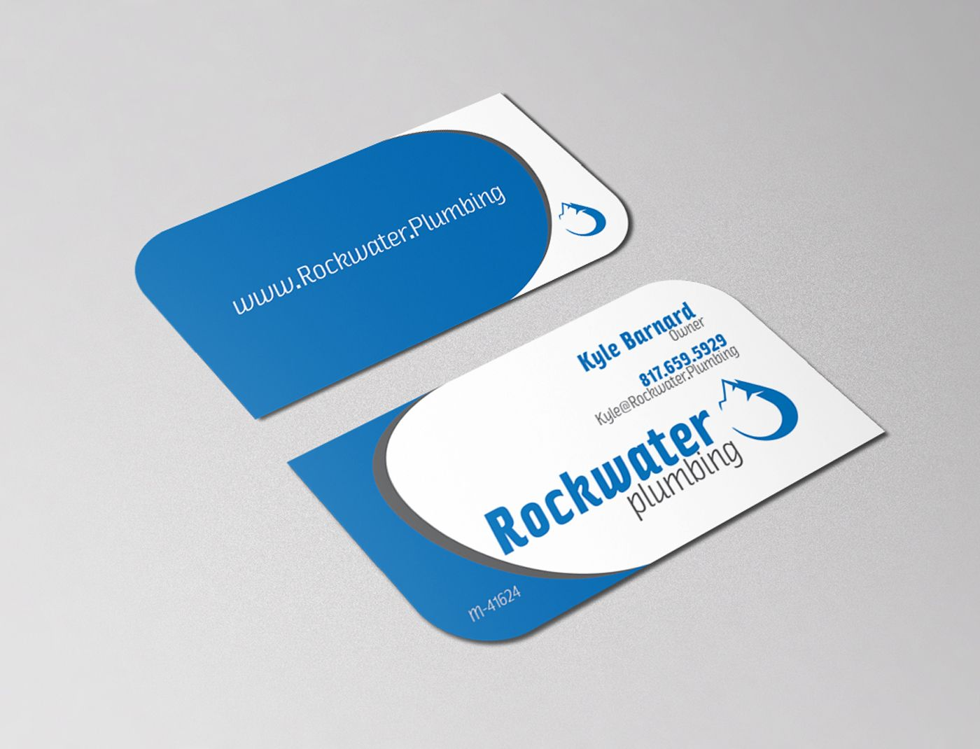 Rockwater Plumbing Logo & Business Card