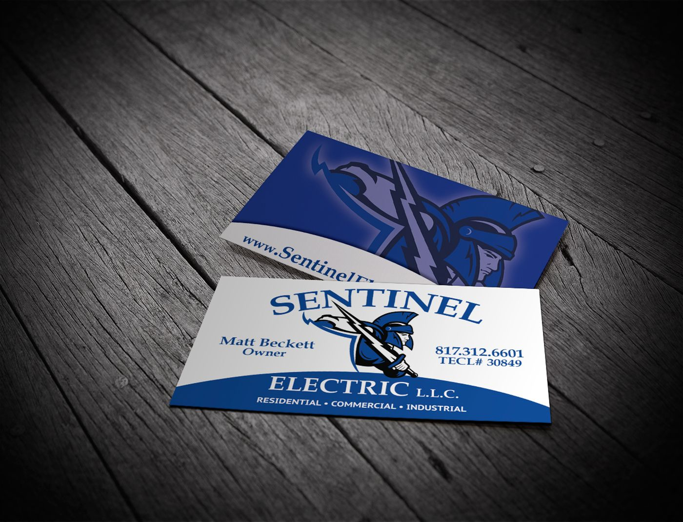Sentinel Electric Business Card