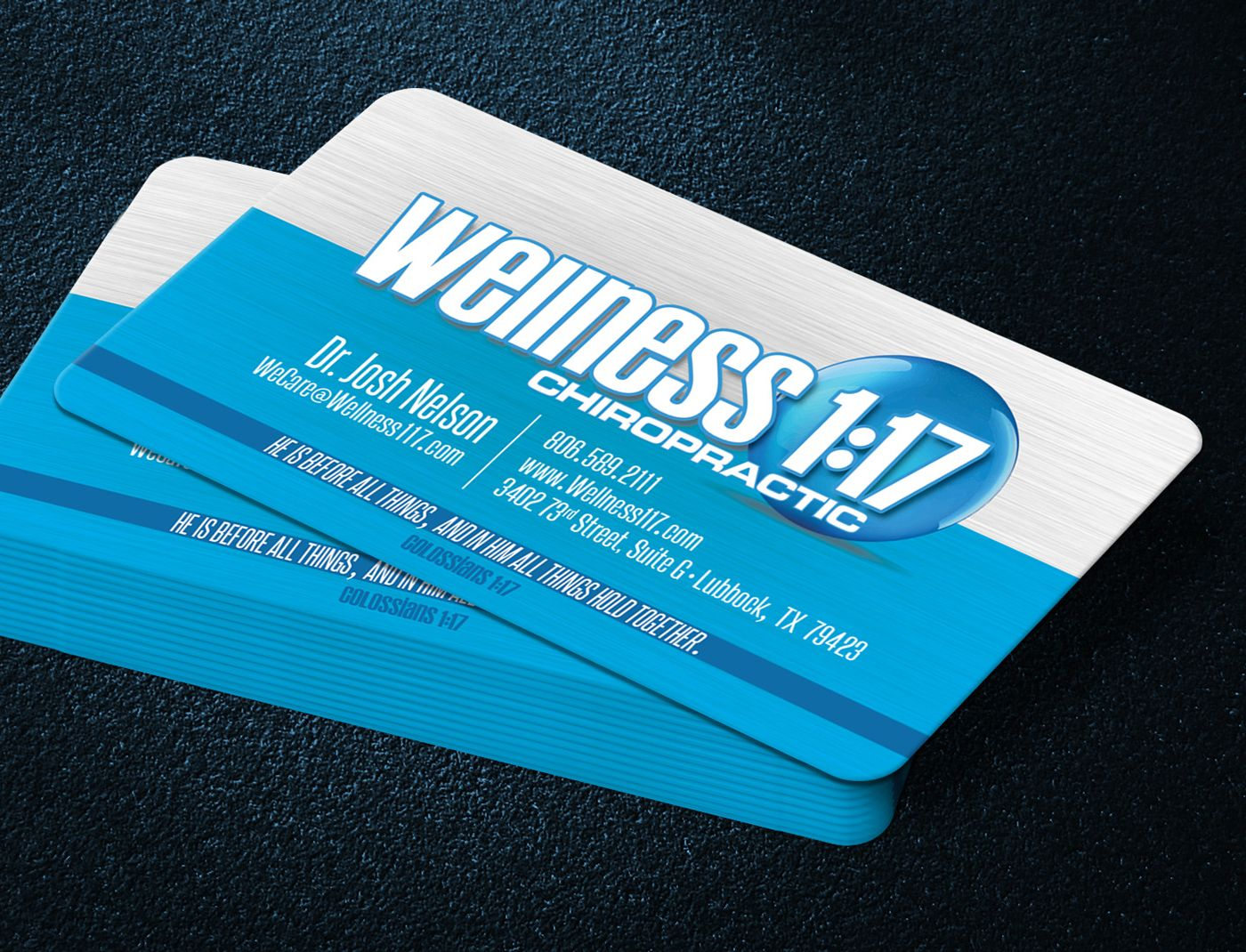 Wellness1:17 Business Cards