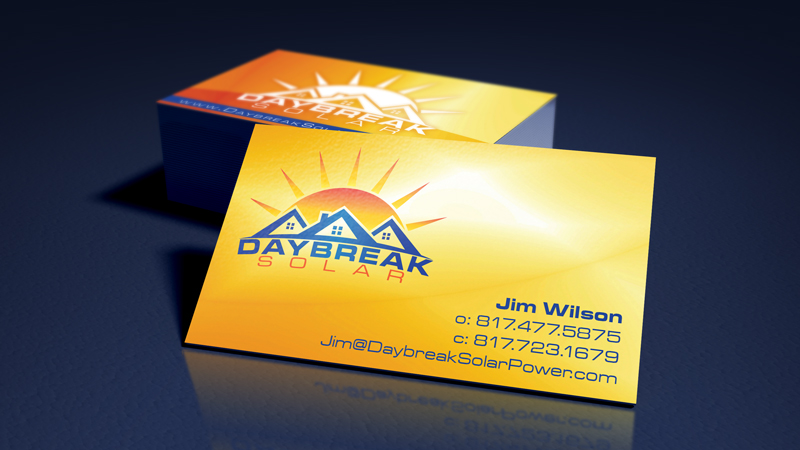Daybreak Solar Logo and Business Cards