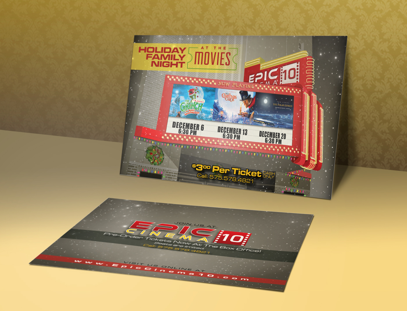 Epic Cinema 10 Logo & Postcard